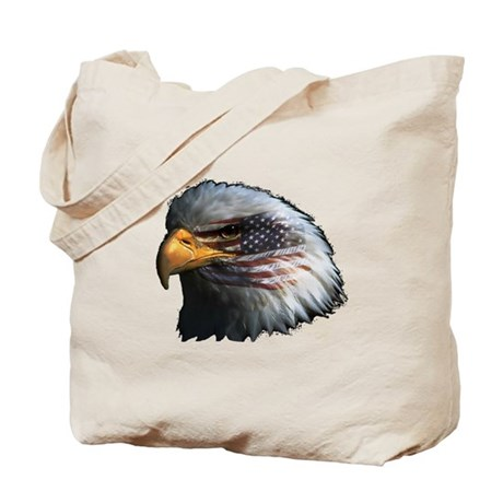 American Flag Eagle Tote Bag
