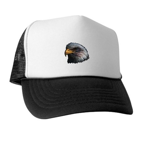 American Flag Eagle Trucker Hat