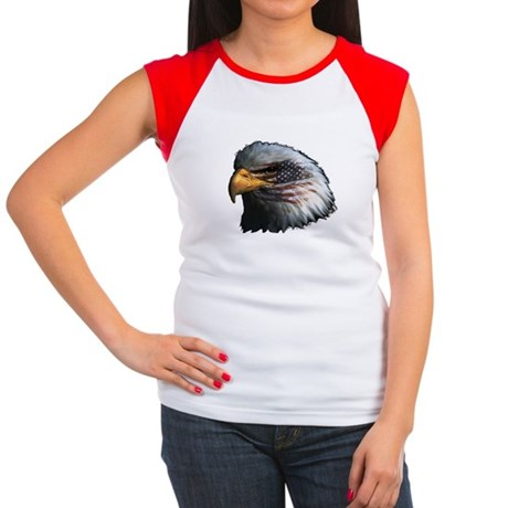 American Flag Eagle Women's Cap Sleeve T-Shirt