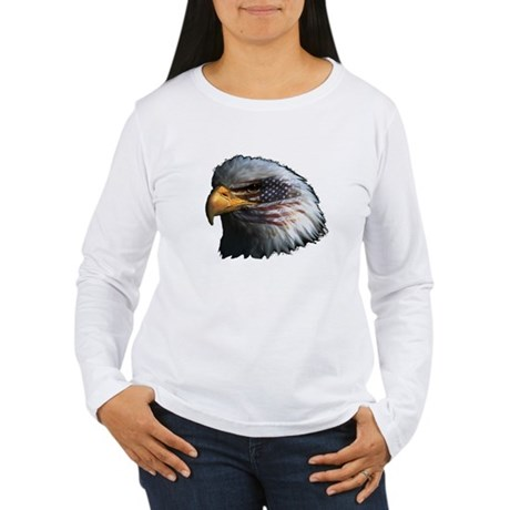 American Flag Eagle Women's Long Sleeve T-Shirt