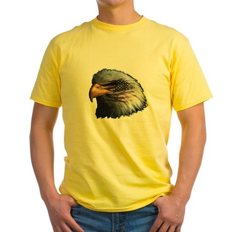 American Flag Eagle Yellow T-Shirt