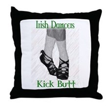 Irish Dancers Kick Butt Throw Pillow