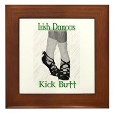 Irish Dancers Kick Butt Framed Tile