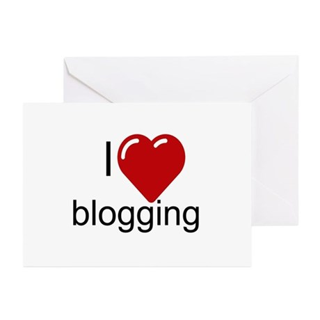 I Love Blogging Greeting Cards (Pk of 10)