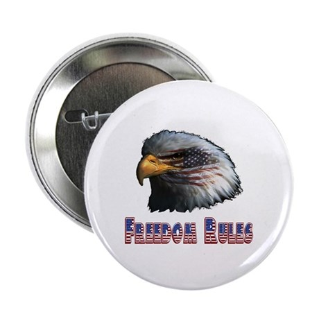 "Freedom Rules Eagle 2.25"" Button (100 pack)"