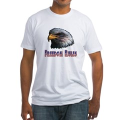 Freedom Rules Eagle Fitted T-Shirt