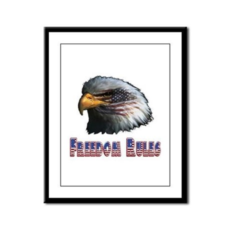 Freedom Rules Eagle Framed Panel Print