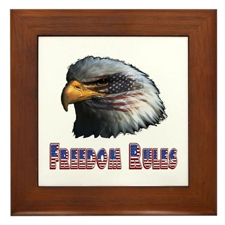 Freedom Rules Eagle Framed Tile