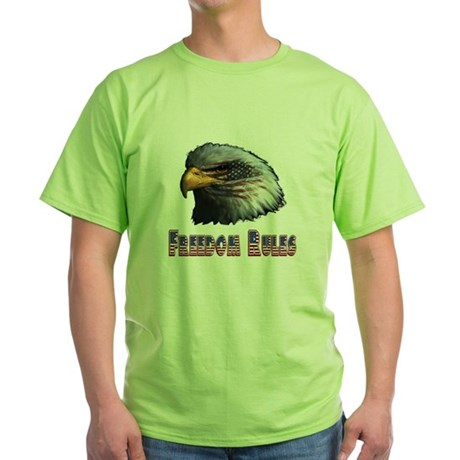 Freedom Rules Eagle Green T-Shirt
