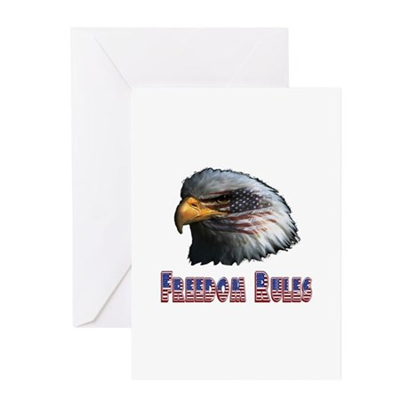 Freedom Rules Eagle Greeting Cards (Pk of 10)