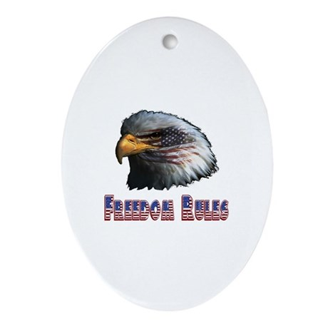 Freedom Rules Eagle Oval Ornament
