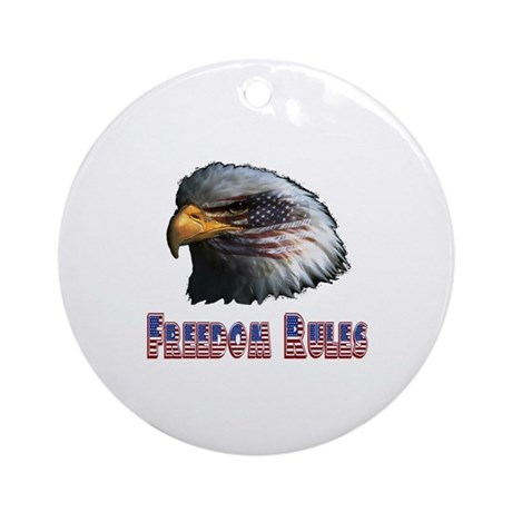 Freedom Rules Eagle Ornament (Round)