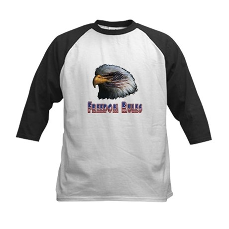 Freedom Rules Eagle Kids Baseball Jersey