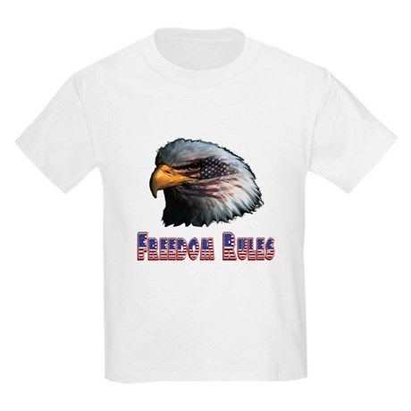 Freedom Rules Eagle Kids Light T-Shirt