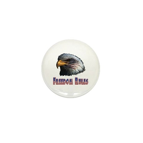 Freedom Rules Eagle Mini Button (10 pack)