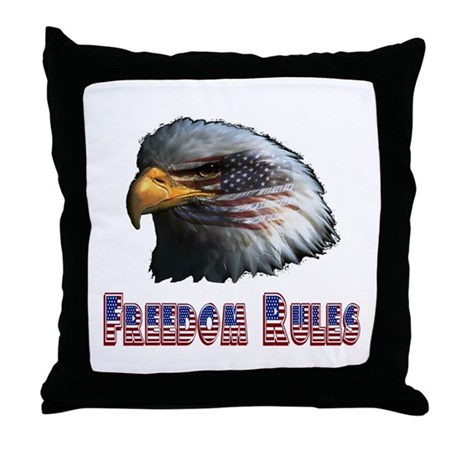 Freedom Rules Eagle Throw Pillow