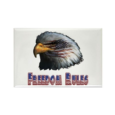 Freedom Rules Eagle Rectangle Magnet (100 pack)