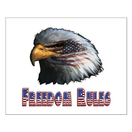 Freedom Rules Eagle Small Poster