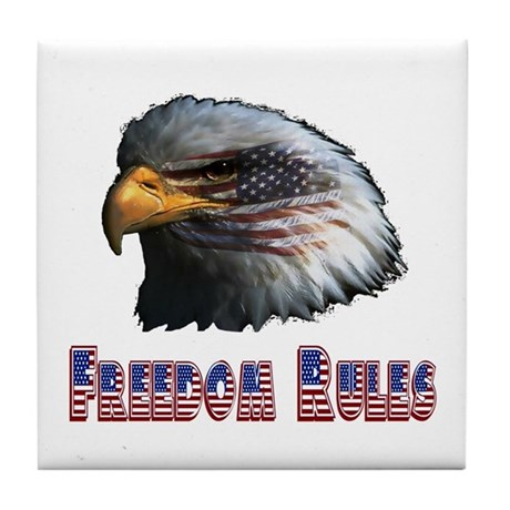 Freedom Rules Eagle Tile Coaster