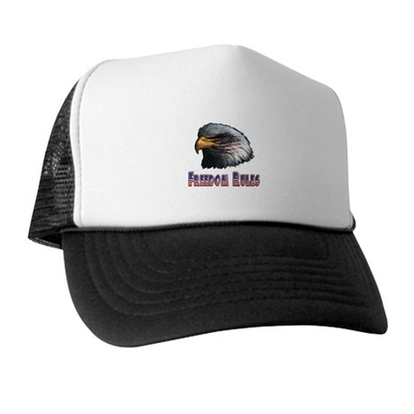 Freedom Rules Eagle Trucker Hat