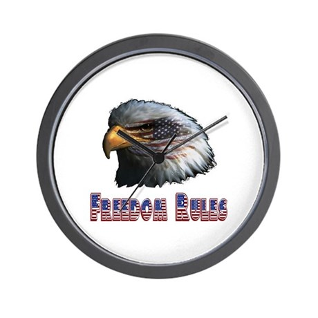 Freedom Rules Eagle Wall Clock