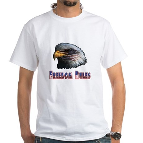 Freedom Rules Eagle White T-Shirt