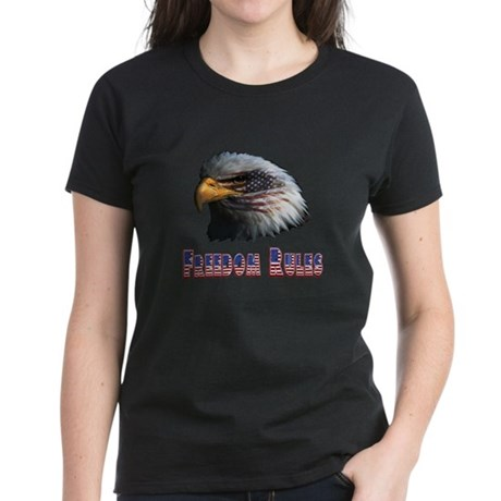 Freedom Rules Eagle Women's Dark T-Shirt