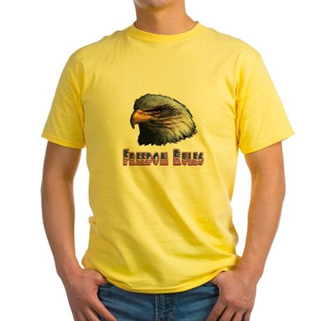Freedom Rules Eagle Yellow T-Shirt