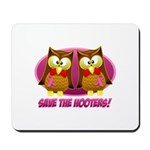 Breast Cancer Owl Mousepad