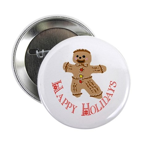 "Gingerbread Man 2.25"" Button (100 pack)"