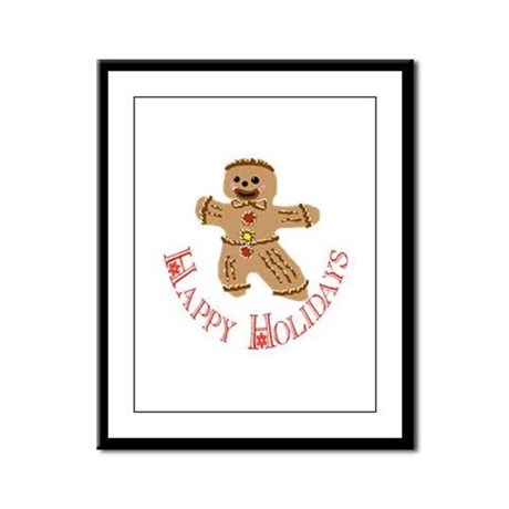 Gingerbread Man Framed Panel Print