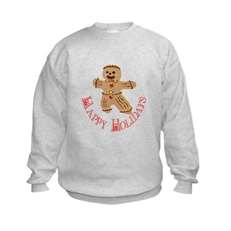 Gingerbread Man Kids Sweatshirt
