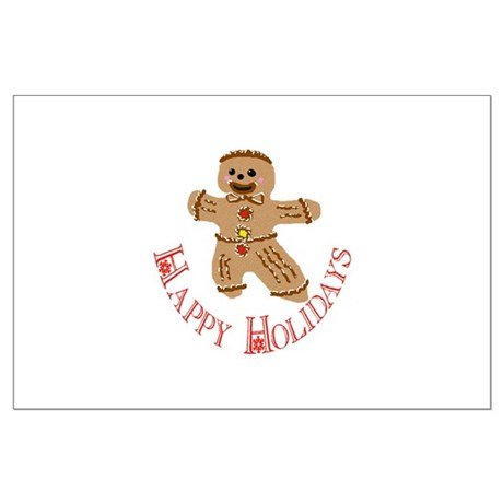 Gingerbread Man Large Poster