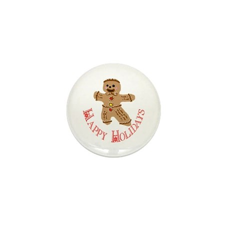 Gingerbread Man Mini Button