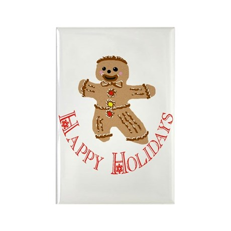 Gingerbread Man Rectangle Magnet (10 pack)