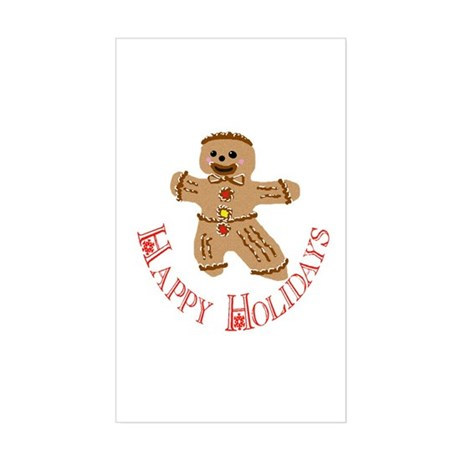 Gingerbread Man Rectangle Sticker