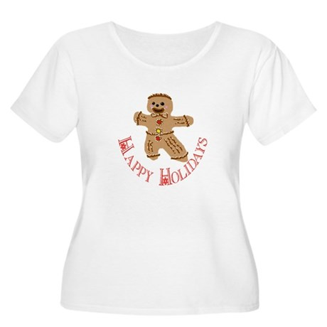 Gingerbread Man Women's Plus Size Scoop Neck T-Shi