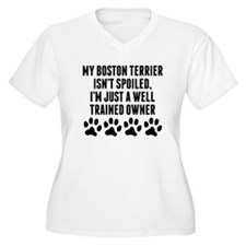 Well Trained Boston Terrier Owner Plus Size T-Shir