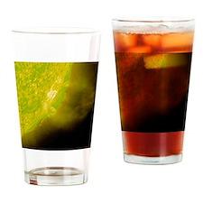 Planet Krypton Closeup Drinking Glass