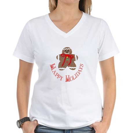 Gingerbread Holidays Women's V-Neck T-Shirt