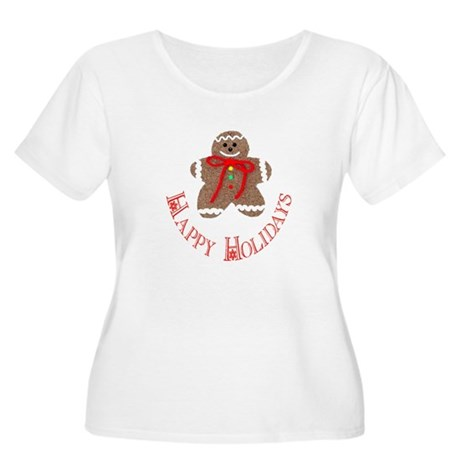 Gingerbread Holidays Women's Plus Size Scoop Neck