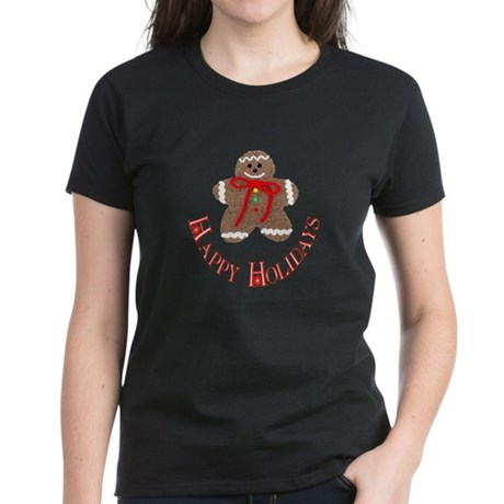 Gingerbread Holidays Women's Dark T-Shirt