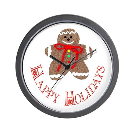 Gingerbread Holidays Wall Clock