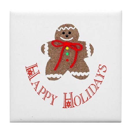 Gingerbread Holidays Tile Coaster