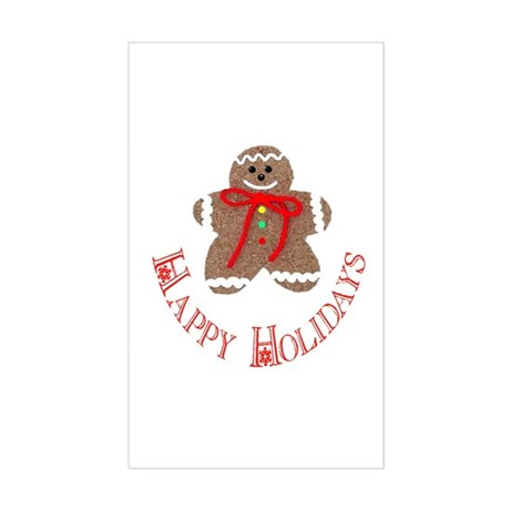 Gingerbread Holidays Rectangle Sticker