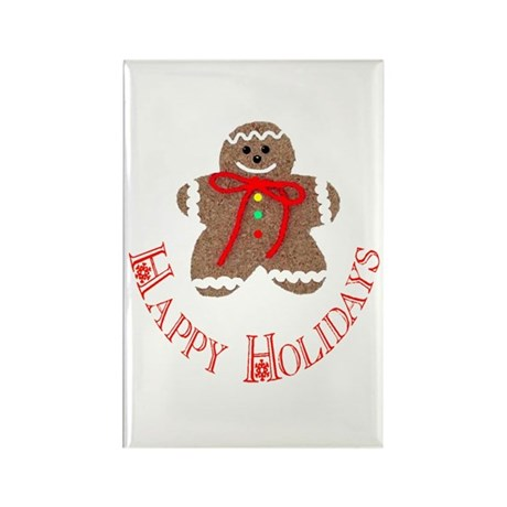 Gingerbread Holidays Rectangle Magnet (100 pack)