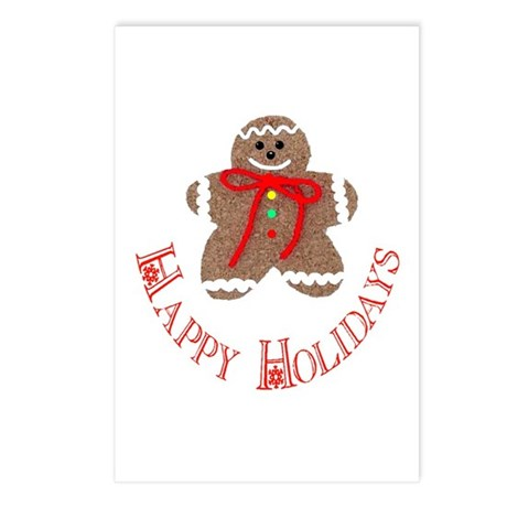 Gingerbread Holidays Postcards (Package of 8)