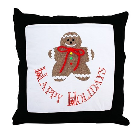 Gingerbread Holidays Throw Pillow