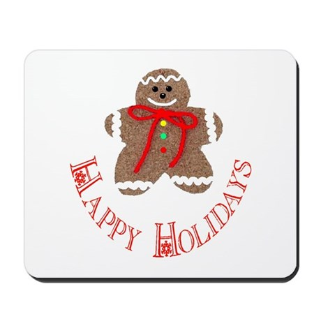 Gingerbread Holidays Mousepad