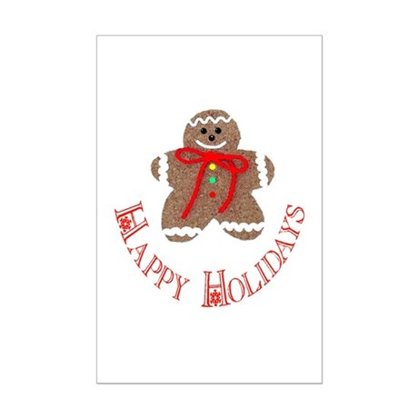 Gingerbread Holidays Mini Poster Print